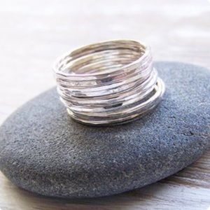 Jewelry - Sterling Silver Stacking Rings US 11